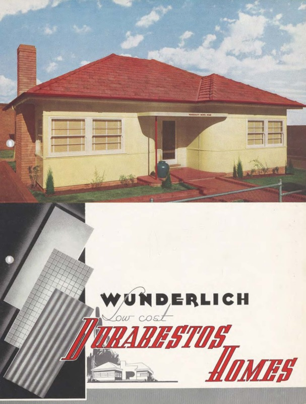 Wunderlich low cost durabestos homes