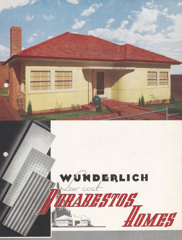 Wunderlich low cost durabestos homes