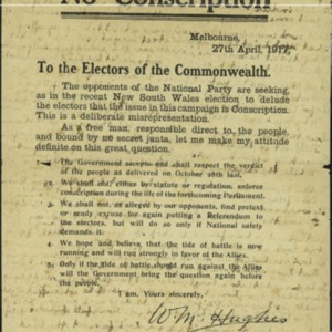 http://lib-omeka.its.deakin.edu.au/plugins/Dropbox/files/hughes1917noconscription.pdf