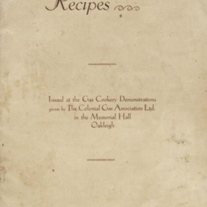 Souvenir book of recipes