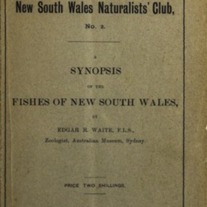 A synopsis of the fishes of New South Wales