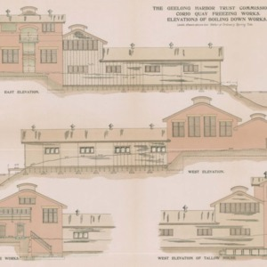 Geelong Harbor Trust Commissioners architectural drawings: Corio Quay