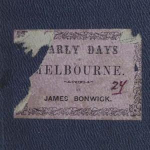 bonwick1857earlydays.pdf