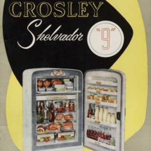 "The book of the Crosley Shelvador ""9"" automatic and non-automatic models : instructions for installation, operation and care, together with specially selected recipes"