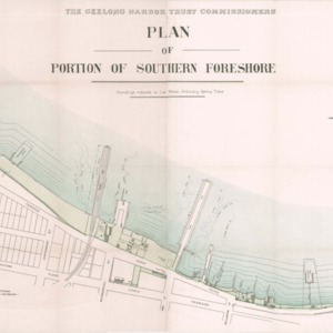 Plan of portion of southern foreshore: soundings reduced to low water, ordinary spring tides