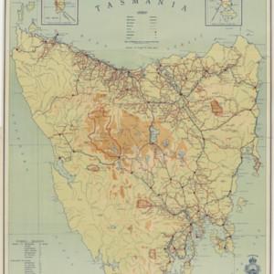 Tourist map of Tasmania