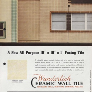 Wunderlich ceramic wall tile : for facing walls, partitions, swimming pools etc