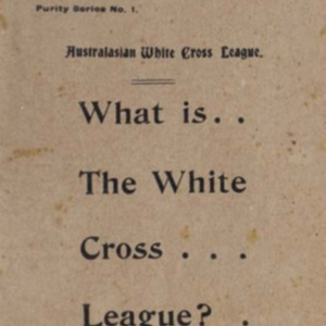 An address : the White Cross League