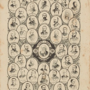 The Daily Telegraph. Portraits of the delegates to the Federal Convention : Sydney, March 1891