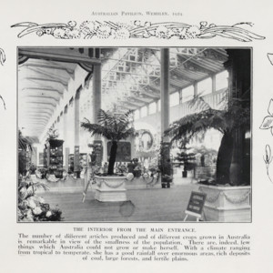 Australian pavilion, British Empire Exhibition, 1924 : a photographic souvenir of the pavilion, illustrating Australia's attractions and resources