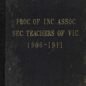 The STV : proceedings of the Association of Secondary Teachers of Victoria