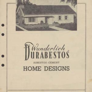 """Wunderlich """"Durabestos"""" asbestos-cement home designs"""