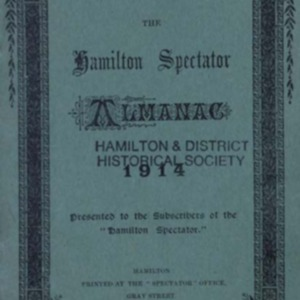 The Hamilton spectator directory and almanac