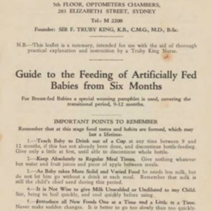 Guide to the feeding of artifically fed babies from six months