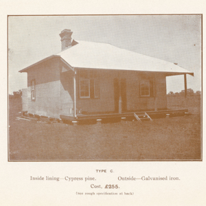Types of houses erected by the Commissioner for settlers on the irrigation areas