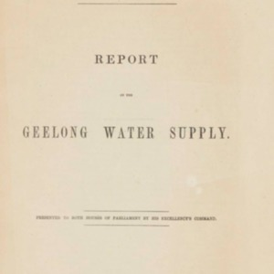 Report on the Geelong water supply