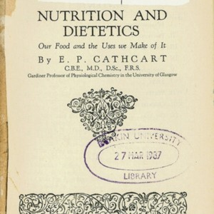 Nutrition and dietetics : our food and the uses we make of it