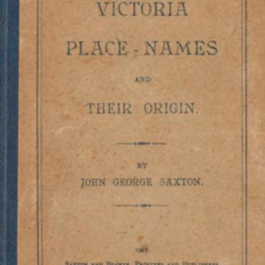 Victoria place-names and their origin