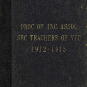 The STV : proceedings of the Incorporated Association of Secondary Teachers of Victoria