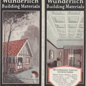 Wunderlich building materials for walls, ceilings & roofs