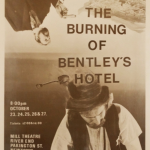 The burning of Bentley's Hotel
