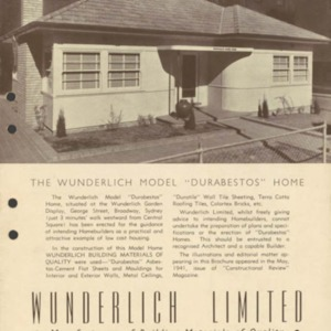 """The Wunderlich model """"Durabestos"""" home"""
