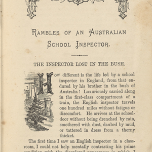 Rides out and about : Rambles of an Australian school inspector, The longest stage-ride in the world, An adventure in the desert