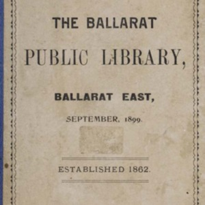 Catalogue of the Ballarat Public Library, Ballarat East