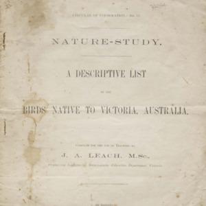 A descriptive list of the birds native to Victoria, Australia, 1908