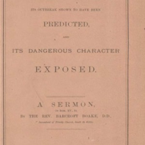 Spiritualism : its outbreak shown to have been predicted and its dangerous character exposed