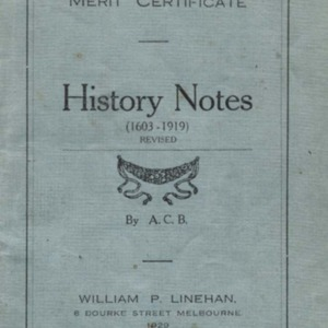Merit certificate history notes (1603-1919) revised