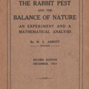The rabbit pest and the balance of nature : an experiment and a mathematical analysis