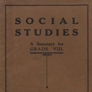Social studies : a summary for grade VIII