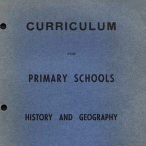 Curriculum for primary schools : history and geography