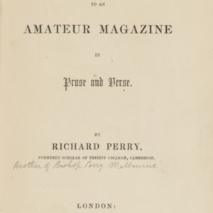Contributions to an amateur magazine in prose and verse
