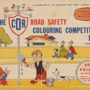 The C.O.R. road safety colouring competition 1954 Victorian section