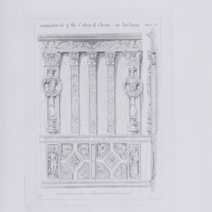 Details of ancient timber houses of the 15th and 16th centuries ; selected from those existing at Roven.. / drawn on the spot and etched by A. Welby Pugin