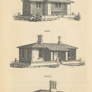 An encyclopaedia of cottage, farm and villa architecture and furniture containing numerous designs for dwellings, from the cottage to the villa, including farm houses, farmeries and other agricultural buildings; several designs for country inns, public houses, farmeries and other agricultural buildings; several designs for country inns, public houses, and parochial schools; with the requisite fittings-up, fixtures and furniture; and appropriate offices, gardens and garden scenery; each design accomapnied by analytical and critical remarks, illustrative of the principles of architectural science and taste on which it is composed