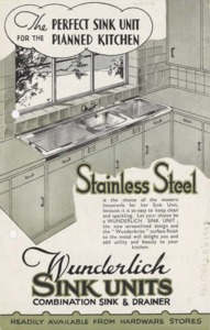 The perfect sink unit for the planned kitchen : Wunderlich sink units : combination sink & drainer