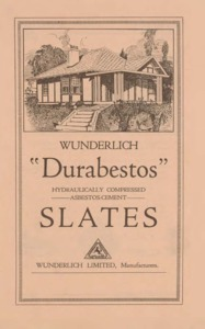 Durabestos hydraulically compressed asbestos-cement slates