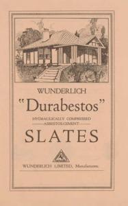 Durabestos hydraulically compressed asbestos-cement slates
