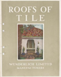 Roofs of tile