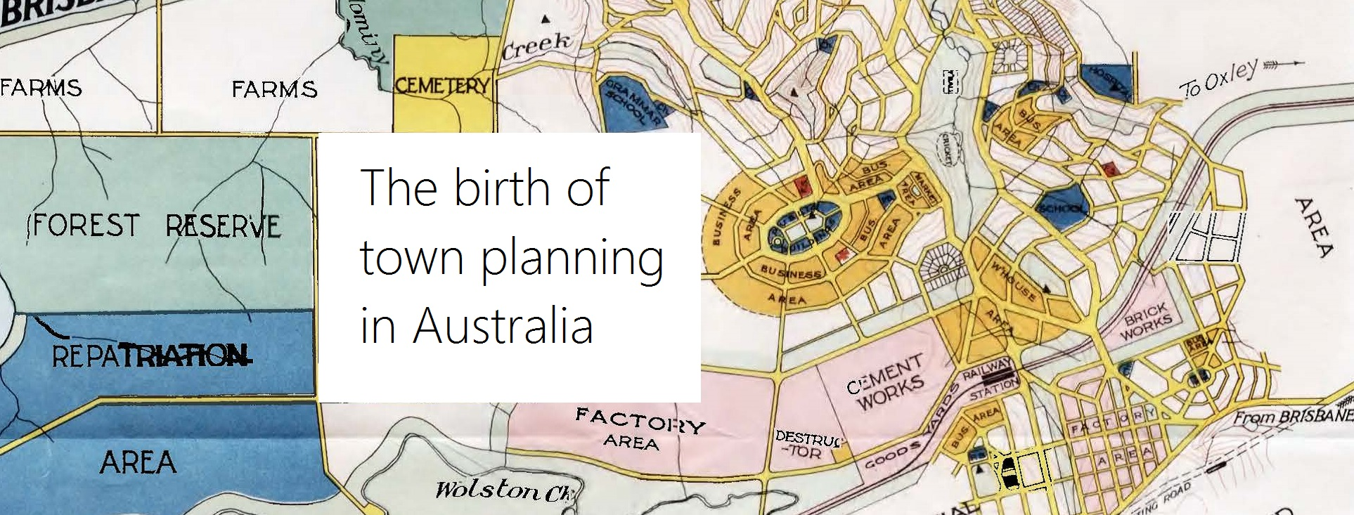 The birth of town planning in Australia